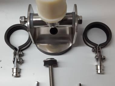 Mastfuß 60mm V4A Ausstattung an Deck