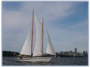 Custom Stays'l Schooner, Douglas Fir -Tillicum1