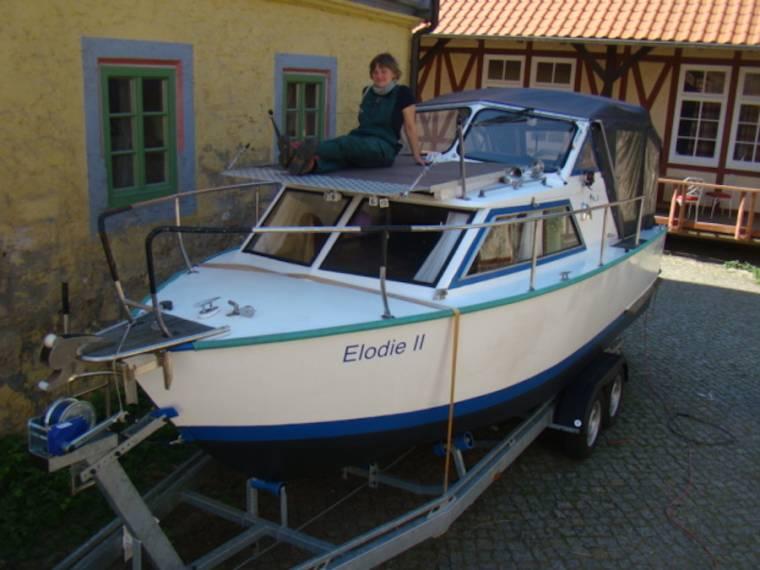 Kajütboot, komplett aus rostfreiem Aluminium