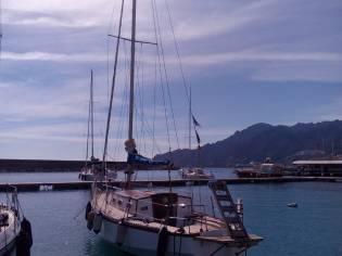 Barca a Vela con tuga in teak