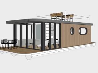 Makkum, NL Lotus Houseboat 12