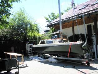 20er Jollenkreuzer mit Schiffsanhänger